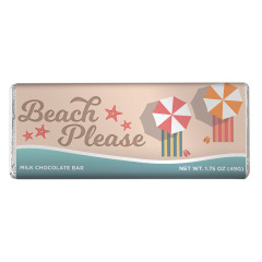 AMUSEMINTS MILK CHOCOLATE BEACH PLEASE 1.75 OZ BAR
