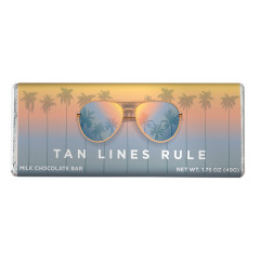 AMUSEMINTS MILK CHOCOLATE TAN LINES RULE 1.75 OZ BAR