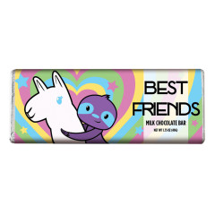 AMUSEMINTS BEST FRIENDS MILK CHOCOLATE 1.75 OZ BAR
