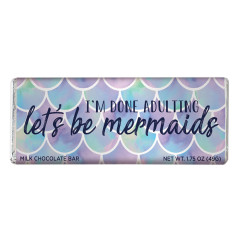 AMUSEMINTS MILK CHOCOLATE LET'S BE MERMAIDS 1.75 OZ BAR