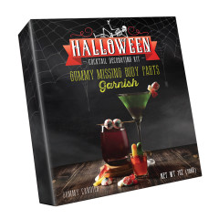AMUSEMINTS GUMMY BODY PARTS HALLOWEEN COCKTAIL DECORATING KIT 8 OZ BOX