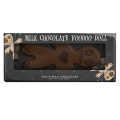 AMUSEMINTS MILK CHOCOLATE VOODOO DOLL 4.5 OZ