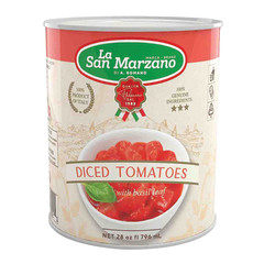 LA SAN MARZANO CANNED DICED TOMATOES 28 OZ CAN