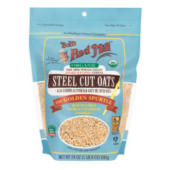 BOB'S RED MILL ORGANIC STEEL CUT OATS 24 OZ PEG BAG