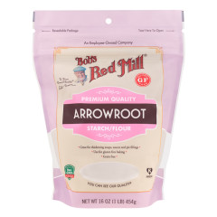 BOB'S RED MILL ARROWROOT STARCH 16 OZ PEG BAG