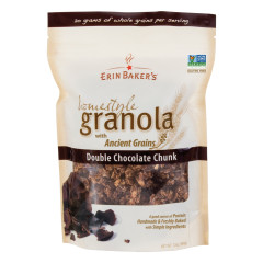 ERIN BAKER'S DOUBLE CHOCOLATE CHUNK GRANOLA 12 OZ POUCH