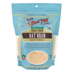 BOB'S RED MILL ORGANIC OAT BRAN 18 OZ POUCH