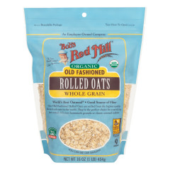 BOB'S RED MILL ORGANIC OLD FASHIONED ROLLED OATS 16 OZ POUCH