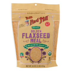 BOB'S RED MILL ORGANIC GOLDEN FLAXSEED MEAL 16 OZ POUCH