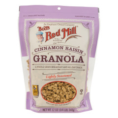 BOB'S RED MILL CINNAMON RAISIN GRANOLA 12 OZ POUCH