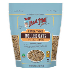 BOB'S RED MILL EXTRA THICK ROLLED OATS 32 OZ POUCH