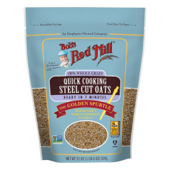 BOB'S RED MILL QUICK COOKING STEEL CUT OATS 22 OZ POUCH