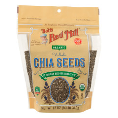 BOB'S RED MILL ORGANIC CHIA SEEDS 12 OZ POUCH