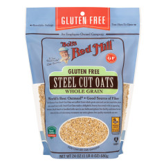 BOB'S RED MILL GLUTEN FREE STEEL CUT OATS 24 OZ POUCH