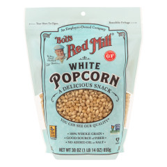 BOB'S RED MILL WHITE POPCORN 30 OZ POUCH