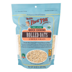 BOB'S RED MILL ORGANIC QUICK COOKING ROLLED OATS 16 OZ POUCH