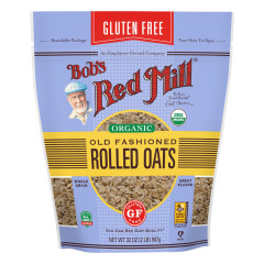 BOB'S RED MILL GLUTEN FREE ORGANIC OLD FASHIONED ROLLED OATS 32 OZ POUCH