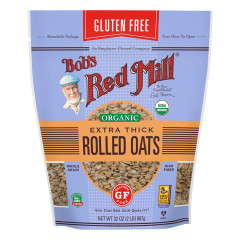 BOB'S RED MILL GLUTEN FREE ORGANIC EXTRA THICK ROLLED OATS 32 OZ POUCH