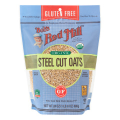 BOB'S RED MILL GLUTEN FREE ORGANIC STEEL CUT OATS 24 OZ POUCH