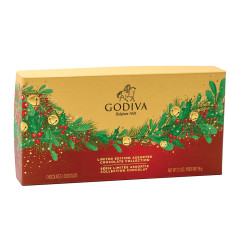GODIVA 9 PC HOLIDAY ASSORTMENT 3.6 OZ BOX