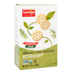 GERMINAL ORGANIC GLUTEN FREE ROSEMARY MINI CRACKER 5.29 OZ BOX