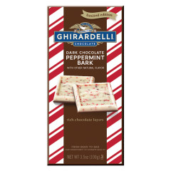 GHIRARDELLI DARK CHOCOLATE PEPPERMINT BARK 3.5 OZ BAR