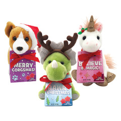 HOLIDAY PLUSH ASSORTED WITH GUMMIES 1 OZ