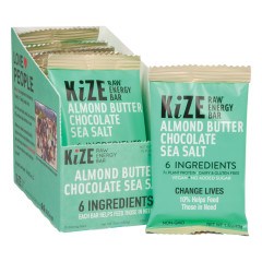 KIZE BAR ALMOND BUTTER CHOCOLATE SEA SALT RAW ENERGY BAR 1.5 OZ