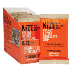KIZE BAR PEANUT BUTTER CHOCOLATE CHIP RAW ENERGY BAR 1.5 OZ