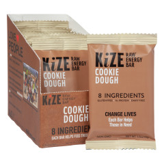 KIZE BAR COOKIE DOUGH RAW ENERGY BAR 1.5 OZ