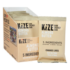 KIZE BAR ALMOND BUTTER RAW ENERGY BAR 1.6 OZ