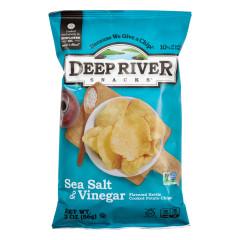 DEEP RIVER SALT & VINEGAR KETTLE CHIPS 2 OZ BAG