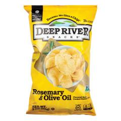 DEEP RIVER ROSEMARY & OLIVE OIL KETTLE CHIPS 2 OZ BAG