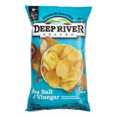 DEEP RIVER SALT & VINEGAR KETTLE CHIPS 5 OZ BAG