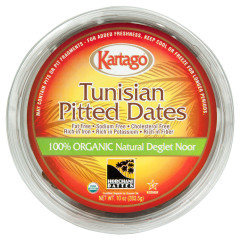 IMPORTED ORGANIC PITTED DATES CUPS 10 OZ PK12/CS