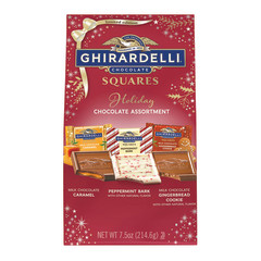 GHIRARDELLI HOLIDAY ASSORTED SQUARES 7.9 OZ LARGE BAG