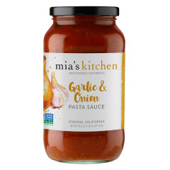 MIA'S KITCHEN GARLIC & ONION PASTA SAUCE 25.5 OZ JAR