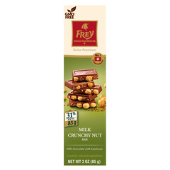 FREY MILK CRUNCHY NUT 3 OZ BAR