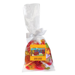 AMUSEMINTS SAN FRANCISCO GUMMY WORMS 5.5 OZ BAG WITH BOW *SF DC ONLY*
