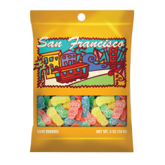AMUSEMINTS SAN FRANCISCO SOUR BUDDIES 5 OZ PEG BAG *SF DC ONLY*