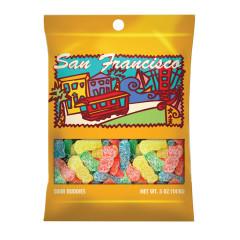 AMUSEMINTS SAN FRANCISCO SOUR BUDDIES 5 OZ PEG BAG *SF DC ONLY*