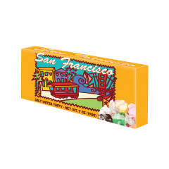 AMUSEMINTS SAN FRANCISCO ASSORTED SALT WATER TAFFY 7 OZ THEATER BOX *SF DC ONLY*