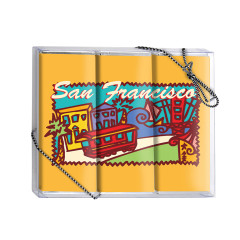 AMUSEMINTS SAN FRANCISCO MILK CHOCOLATE 3 BARS BOX 5.25 OZ *SF DC ONLY*