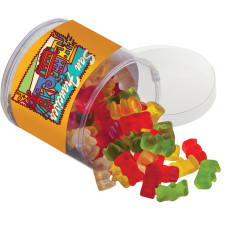 AMUSEMINTS SAN FRANCISCO GUMMY BEARS 6.5 OZ  ACETATE TUB *SF DC ONLY*