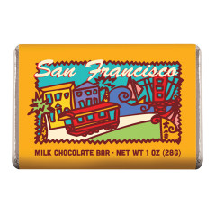 AMUSEMINTS SAN FRANCISCO MILK CHOCOLATE 1 OZ  BAR *SF DC ONLY*