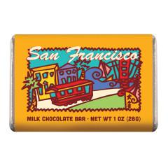 AMUSEMINTS SAN FRANCISCO MILK CHOCOLATE 1 OZ  BAR *SF DC ONLY*