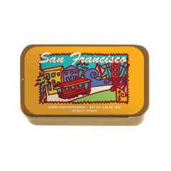 AMUSEMINTS SAN FRANCISCO PEPPERMINTS 0.56 OZ SLIDER TIN *SF DC ONLY*