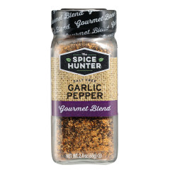 SPICE HUNTER SALT FREE GARLIC PEPPER 2.4 OZ