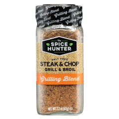 SPICE HUNTER SALT FREE STEAK AND CHOP GRILL AND BROIL 2.2 OZ