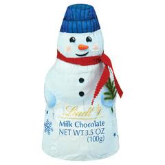 LINDT MILK CHOCOLATE FOILED SNOWMAN 3.5 OZ